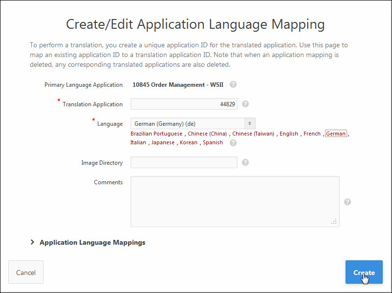 Translating an Application in Oracle Application Express 5 0