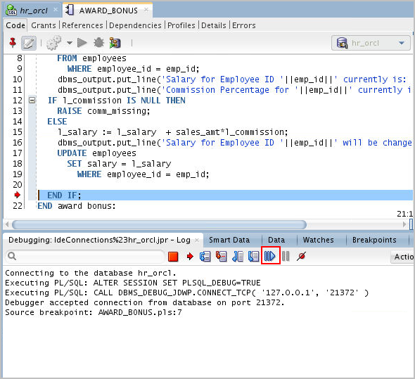 Testing and Debugging Procedures with SQL Developer