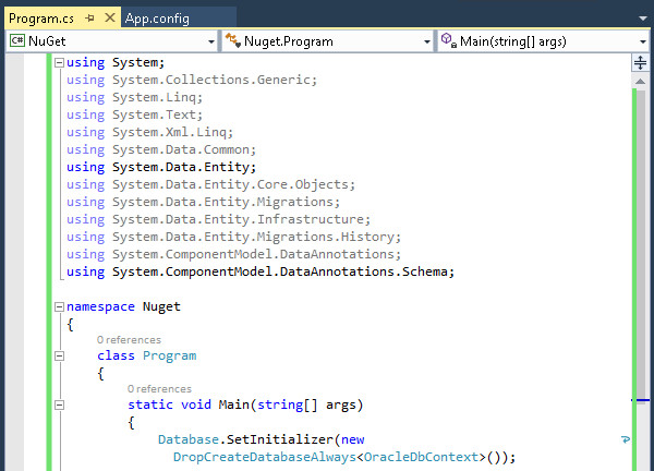 Entity Framework Code First and Code First Migrations for Oracle