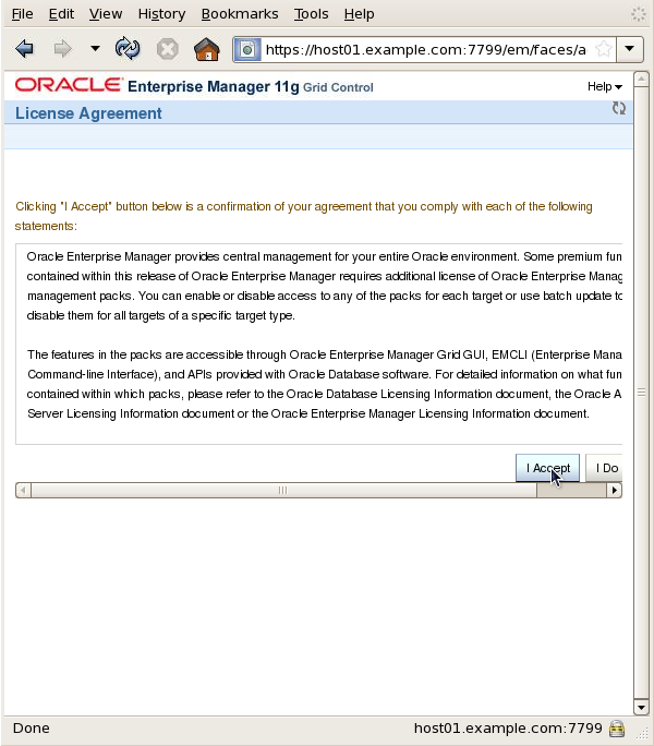 Installing Oracle Enterprise Manager Grid Control 11g Release 1