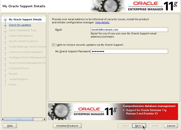 Installing Oracle Enterprise Manager Grid Control 11g