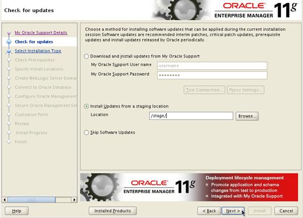 Installing Oracle Enterprise Manager Grid Control 11g