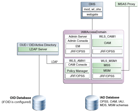 Install and Configure OAM-OMSS Topology using IDM LCM Tool with OUD