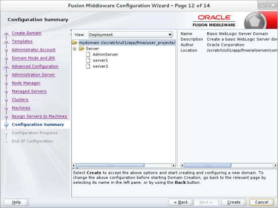 Oracle WebLogic Server 12c (12 2 1): Creating a Domain