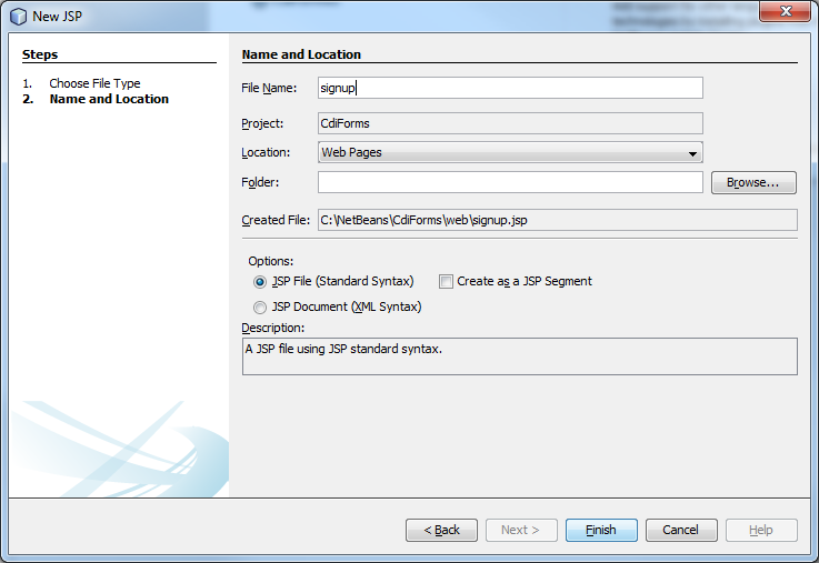 handling forms in java ee 6 by using servlets and cdi