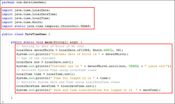 Java SE 8: Using Date and Time API to calculate date offsets