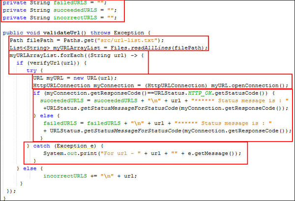Creating an HTTP Link Checker with Java