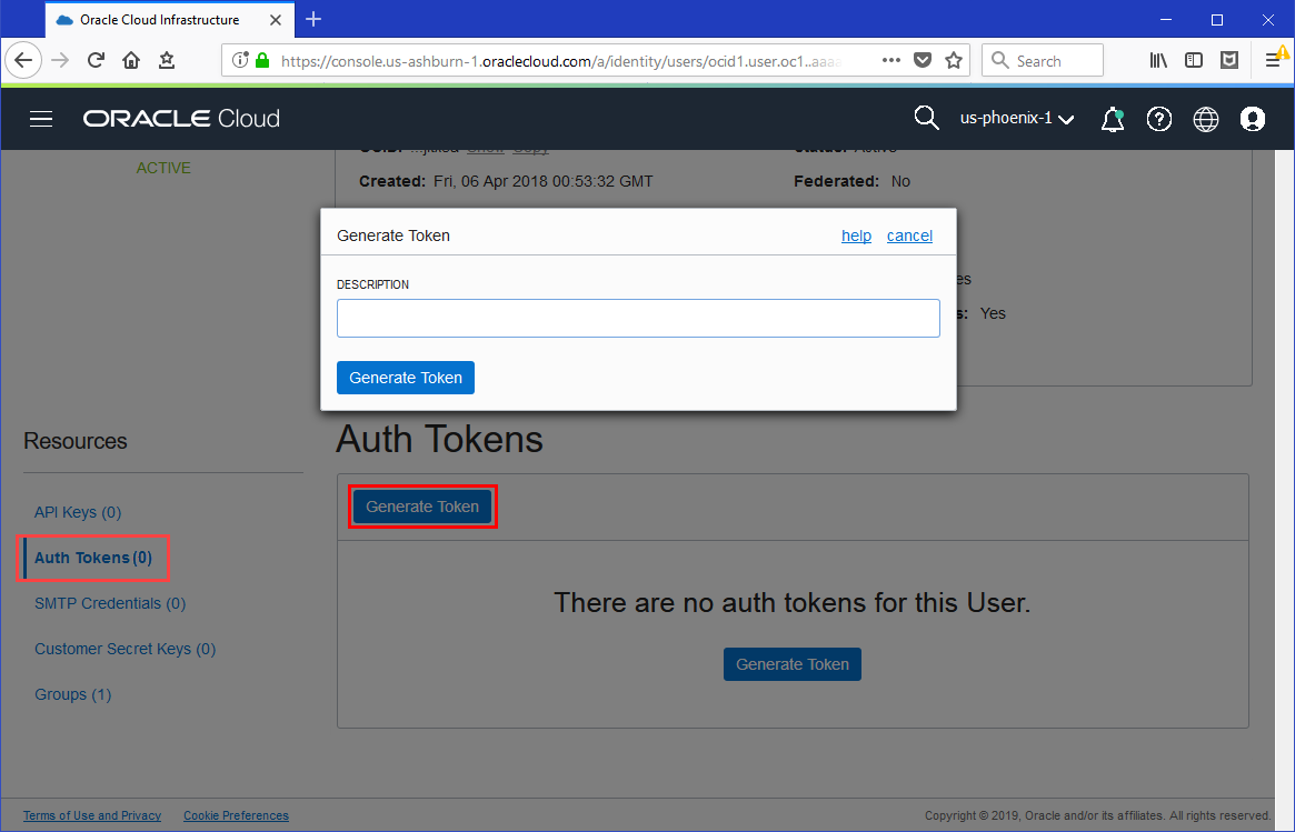 Push an Image to Oracle Cloud Infrastructure Registry