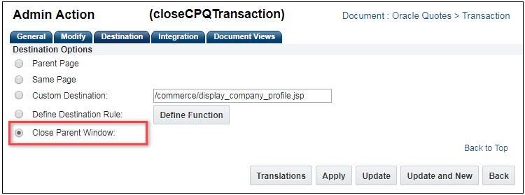 Oracle CPQ Cloud Release 18D