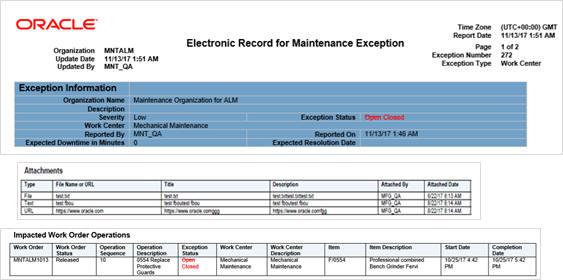Oracle Maintenance Cloud R13 (updates 18A - 18C)