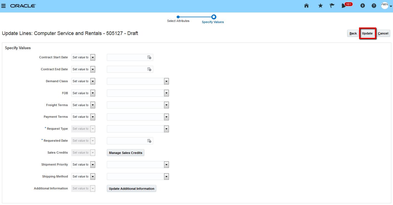 Oracle Order Management Cloud R13 (updates 18A - 18C)