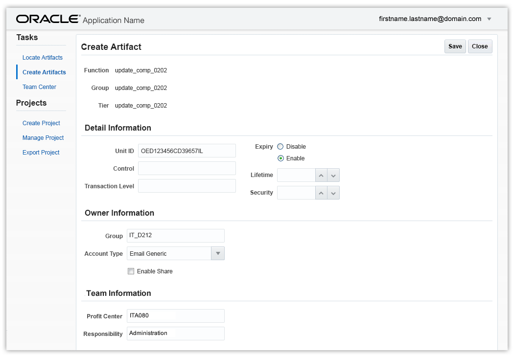 Oracle Alta UI Patterns: Forms